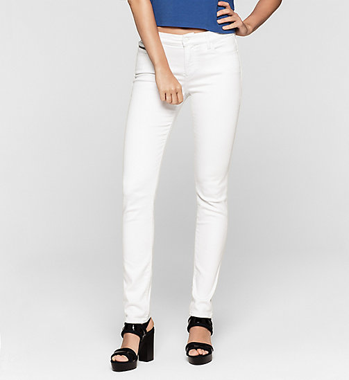 Mid Rise Slim Jeans - INFINITE WHITE STRETCH - CK JEANS JEANS - main image