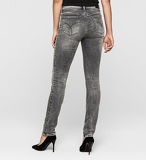 Mid rise slim jeans - BROKEN GREY DESTRUCTED - CK JEANS  - detail image 1