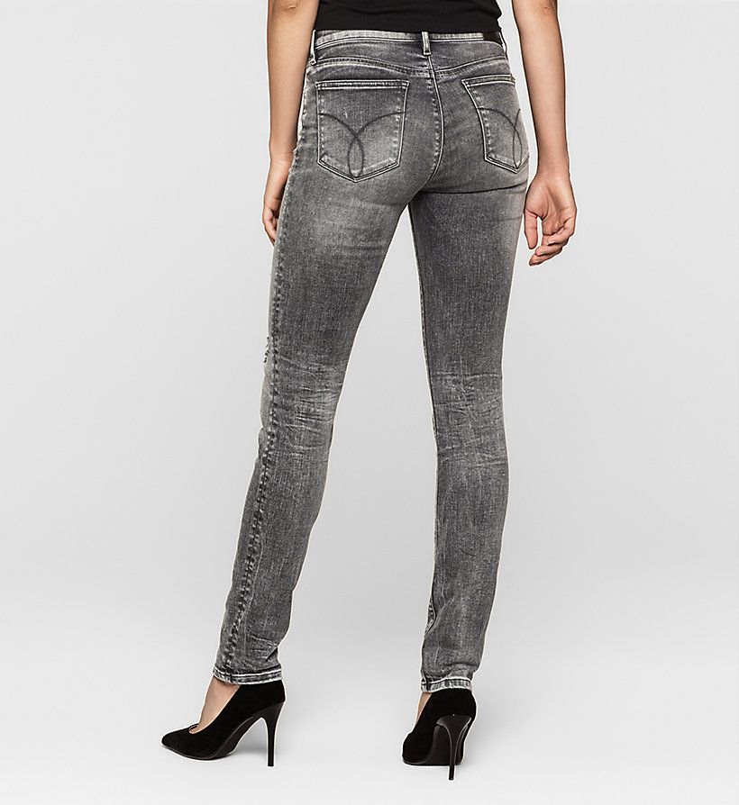 CKJEANS Mid-Rise Slim-Jeans - BROKEN GREY DESTRUCTED - CK JEANS JEANS - main image 1