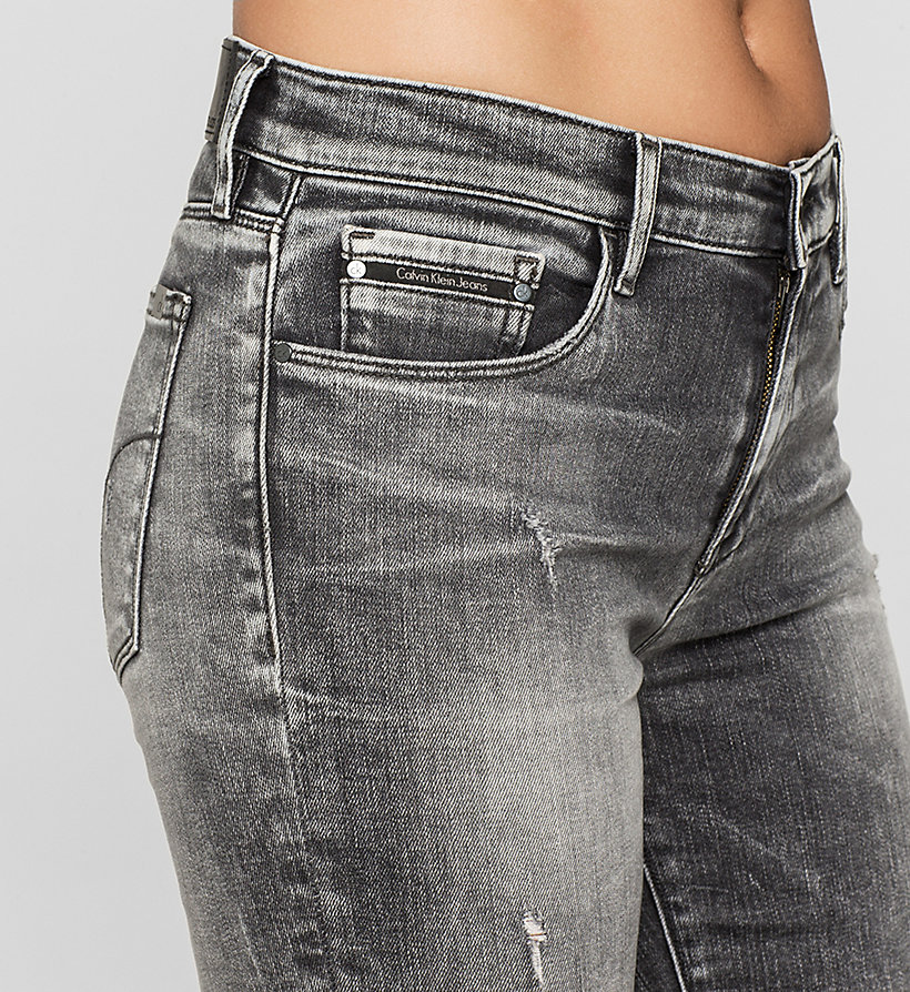 CKJEANS Mid-Rise Slim-Jeans - BROKEN GREY DESTRUCTED - CK JEANS JEANS - main image 2