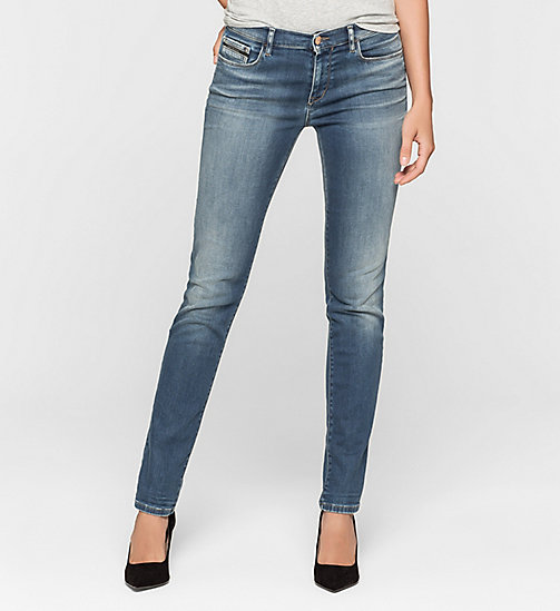 Mid Rise Slim Jeans - BLUE REVIVAL - CK JEANS CLOTHES - main image