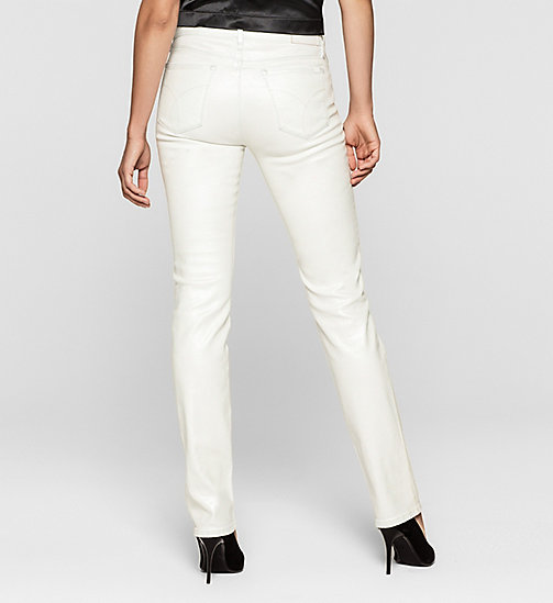 Mid Rise Straight Jeans - IRIDESCENT LIGHT - CK JEANS JEANS - detail image 1