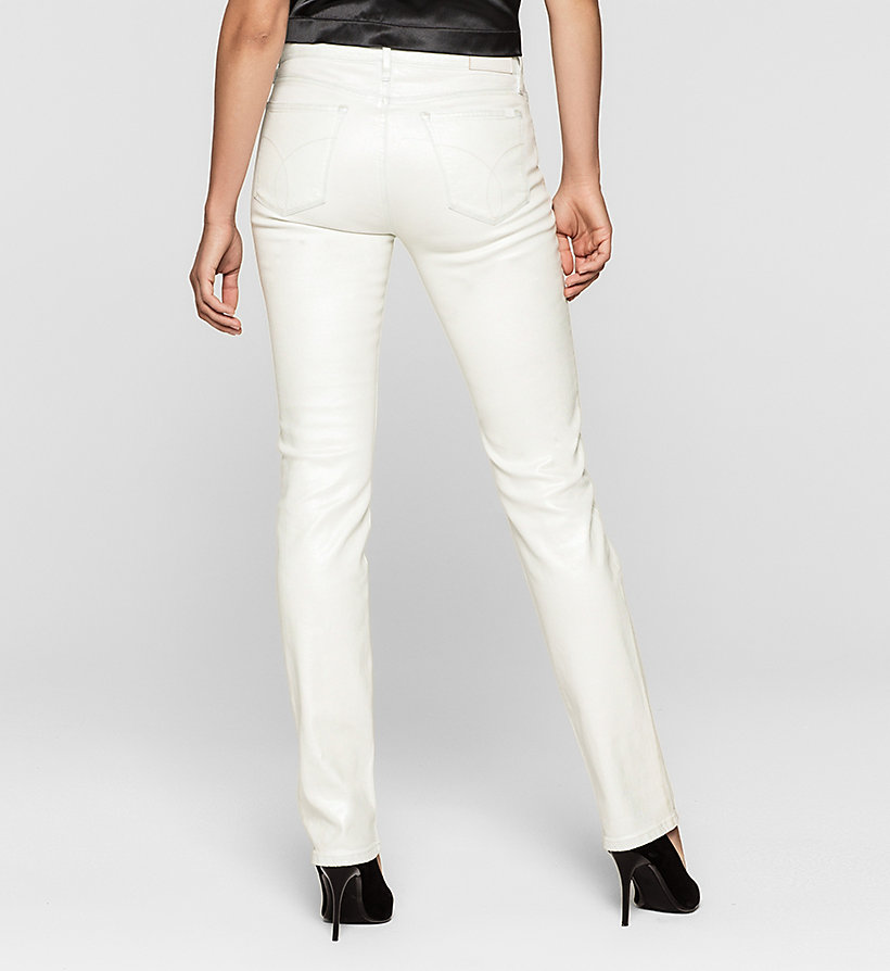 CKJEANS Mid Rise Straight Jeans - IRIDESCENT LIGHT - CK JEANS CLOTHES - detail image 1
