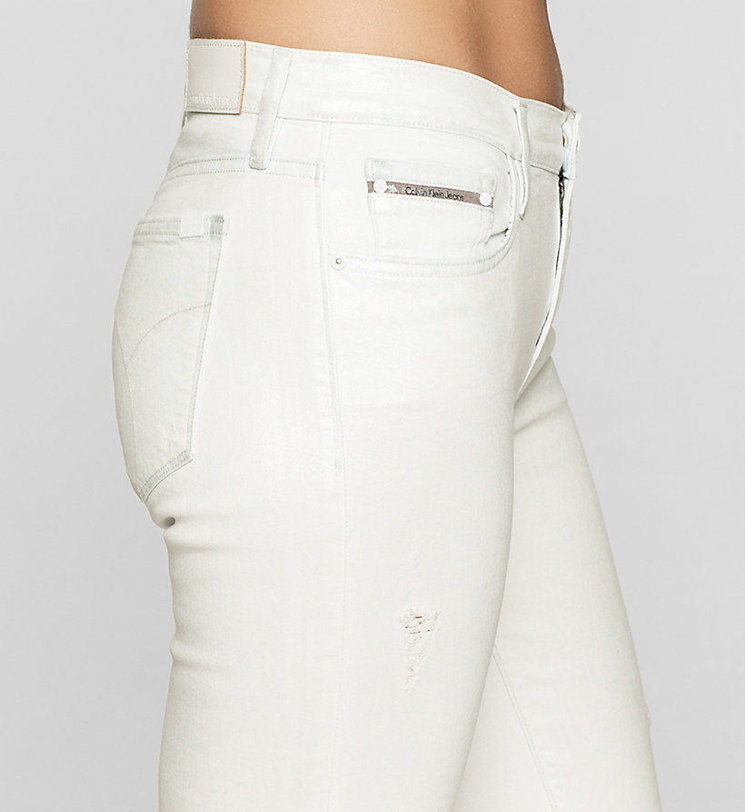 CKJEANS Mid Rise Straight Jeans - IRIDESCENT LIGHT - CK JEANS CLOTHES - detail image 2