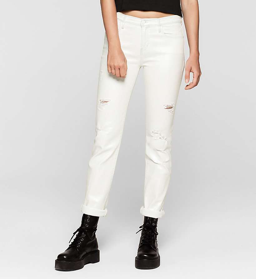 CKJEANS Mid Rise Straight Jeans - IRIDESCENT LIGHT - CK JEANS CLOTHES - main image