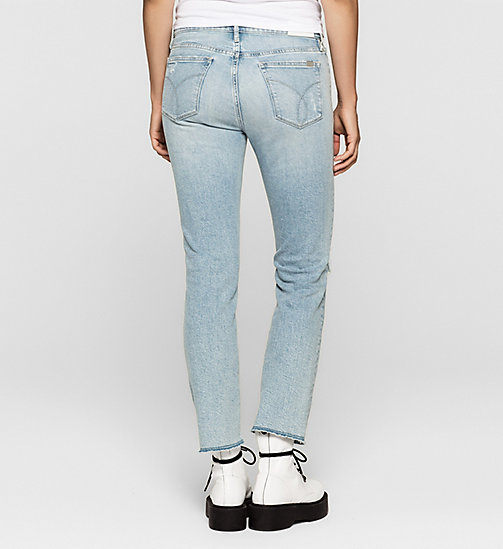 Mid Rise Straight Cropped Jeans - KYOTO BLUE COMFORT - CK JEANS JEANS - detail image 1