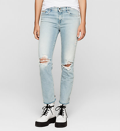 CALVIN KLEIN JEANS Mid Rise Straight Cropped Jeans J20J205152913