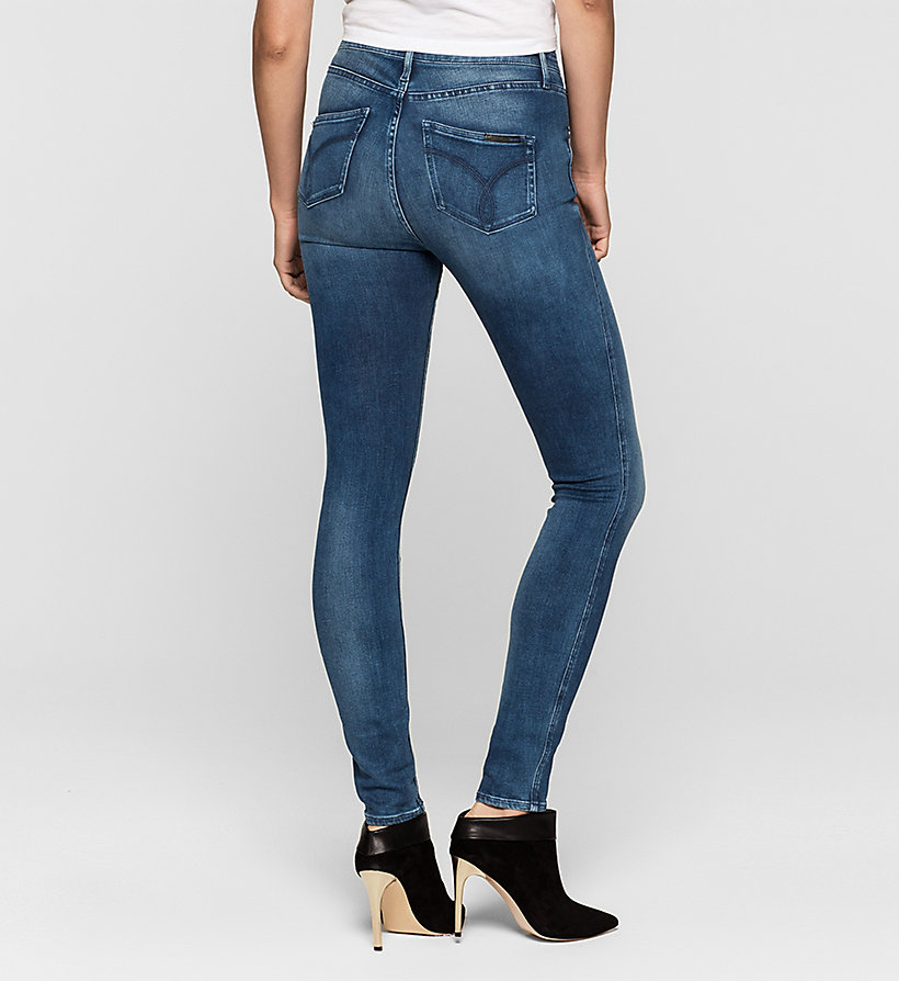 CALVIN KLEIN JEANS High Rise Sculpted Skinny Jeans - ROYAL BLUE - CALVIN KLEIN JEANS JEANS - detail image 1