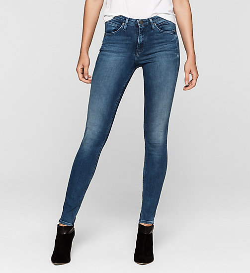 High Rise Sculpted Skinny Jeans - ROYAL BLUE - CALVIN KLEIN JEANS JEANS - main image