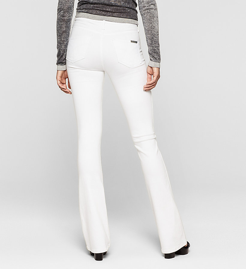 CKJEANS High Rise Sculpted Slim Bootcut Jeans - INFINITE WHITE STRETCH - CK JEANS JEANS - detail image 1