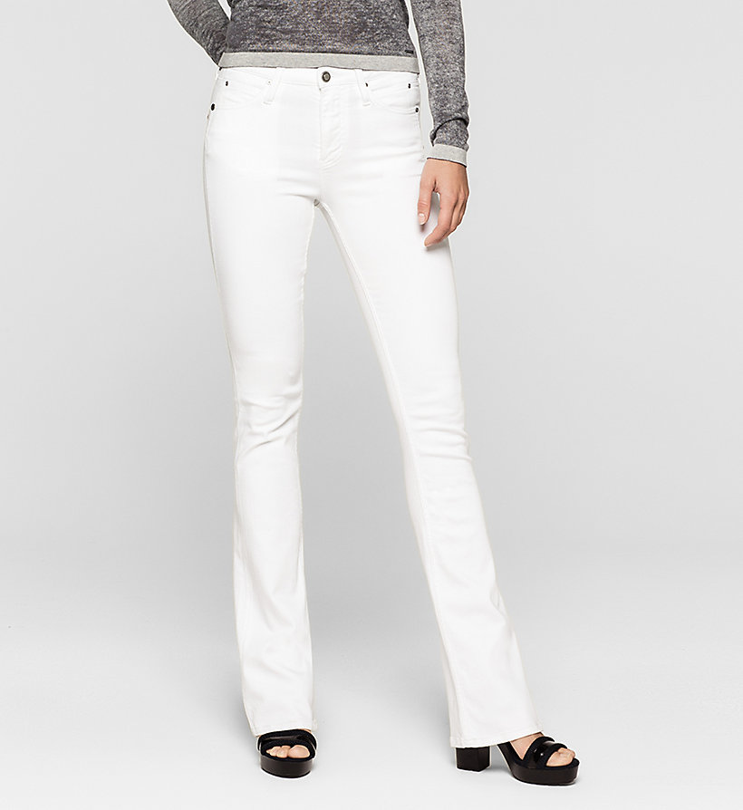 CKJEANS High Rise Sculpted Slim Bootcut Jeans - INFINITE WHITE STRETCH - CK JEANS JEANS - main image