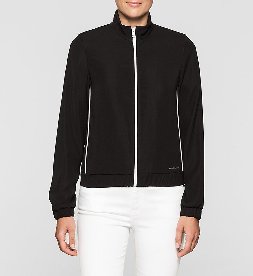 CKJEANS Satin Track Jacket - CK BLACK - CK JEANS OUTERWEAR - main image
