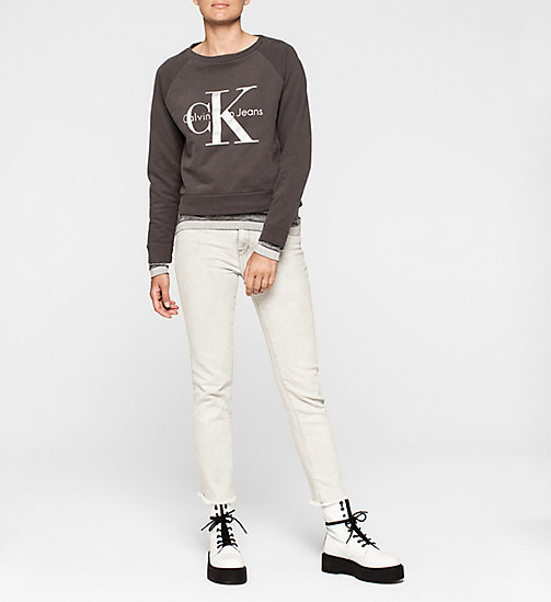 Lyocell Cashmere Blend Sweater - CK BLACK - CK JEANS JUMPERS - detail image 1