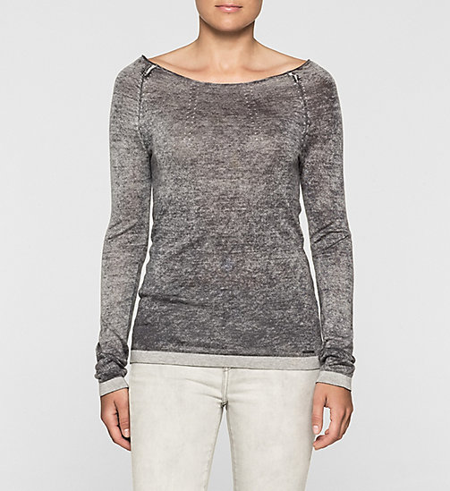 Lyocell Cashmere Blend Sweater - CK BLACK - CK JEANS JUMPERS - main image