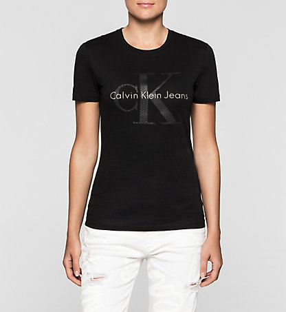 CALVIN KLEIN JEANS Fitted Logo T-shirt J20J205164099