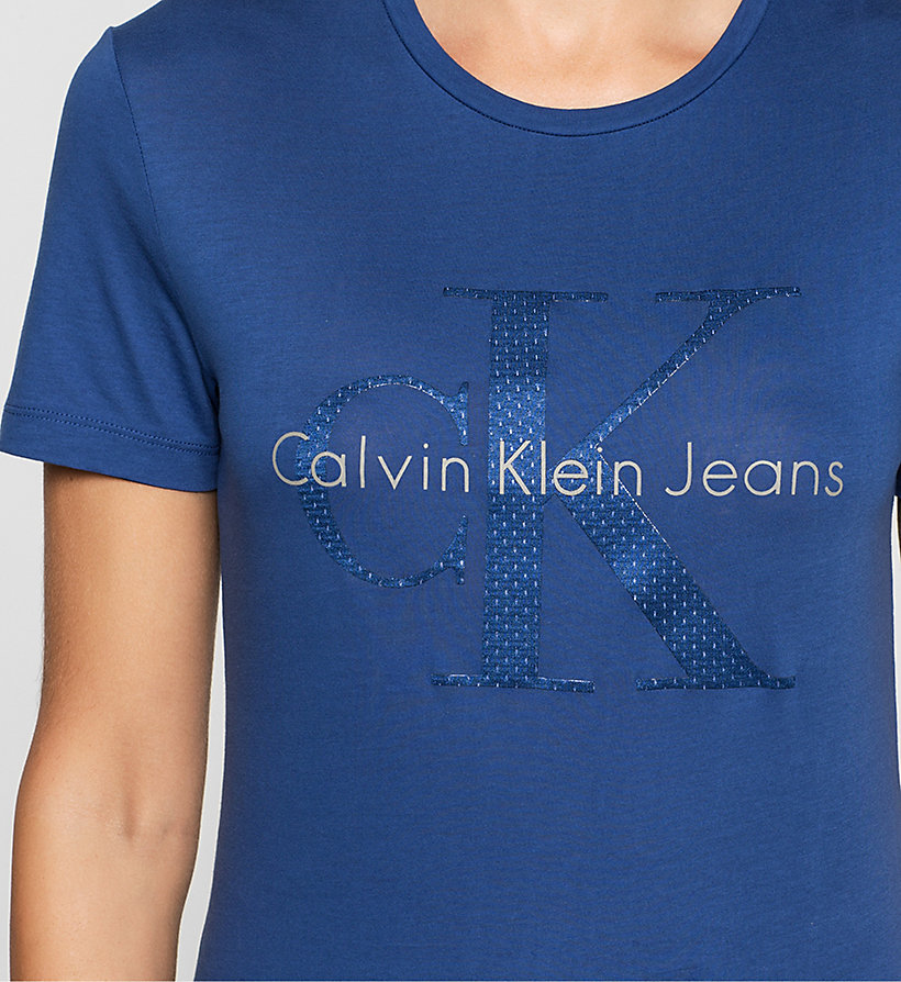 CKJEANS Fitted Logo T-shirt - SODALITE BLUE - CK JEANS CLOTHES - detail image 2