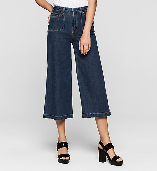 Denim surplus culotte - STONEY BLUE COMFORT - CK JEANS JEANS - main image