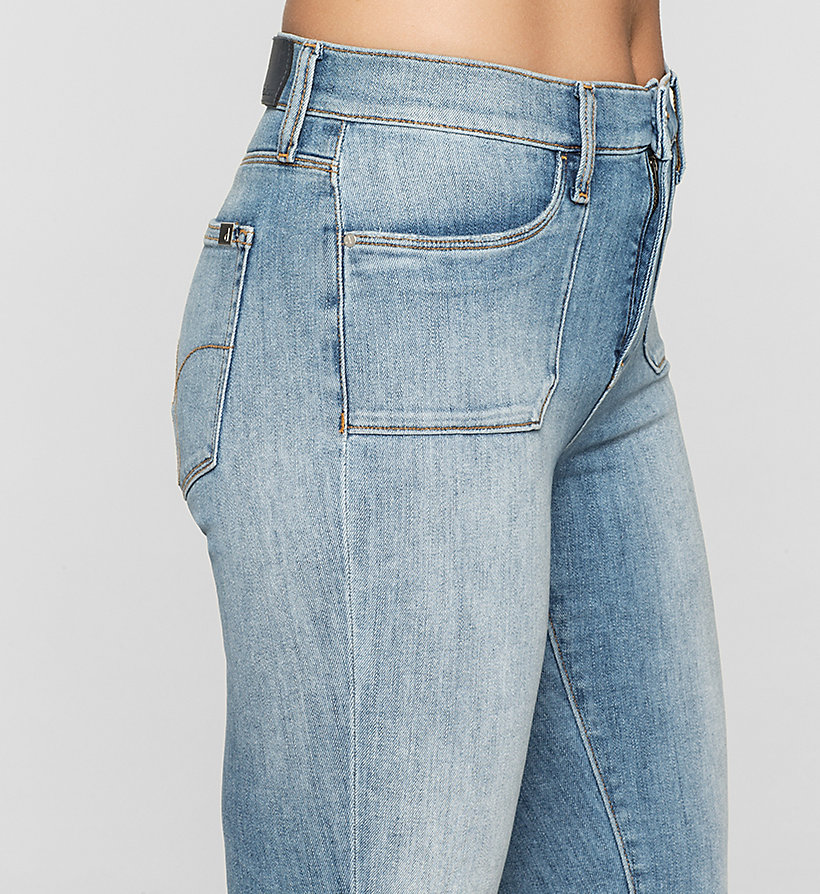 CKJEANS High Rise Utility Skinny Jeans - UNUSUAL BLUE - CK JEANS JEANS - detail image 2