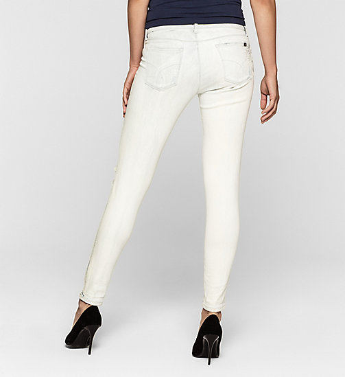 Mid rise skinny enkellange jeans - SPACE FLOWER DESTRUCTED - CK JEANS JEANS - detail image 1