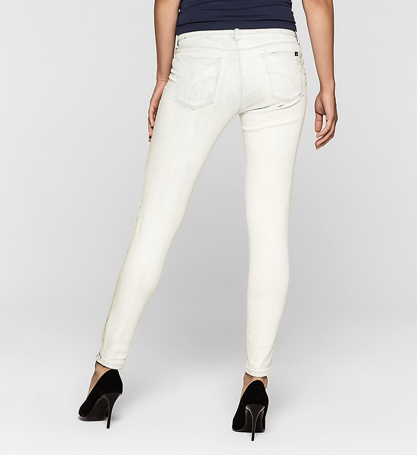 CKJEANS Mid Rise Skinny Ankle Jeans - SPACE FLOWER DESTRUCTED - CK JEANS JEANS - detail image 1