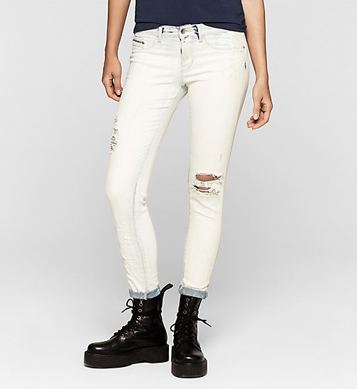 Mid rise skinny enkellange jeans - SPACE FLOWER DESTRUCTED - CK JEANS  - main image