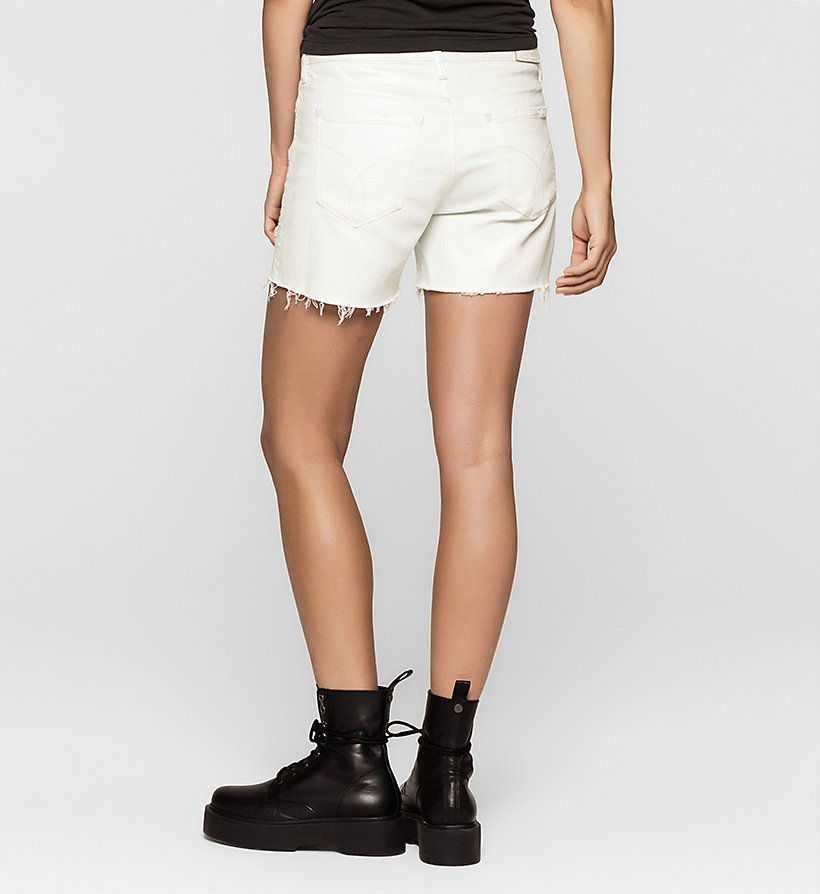 CKJEANS Cut-off Denim Shorts - IRIDESCENT LIGHT - CK JEANS SHORTS - detail image 1