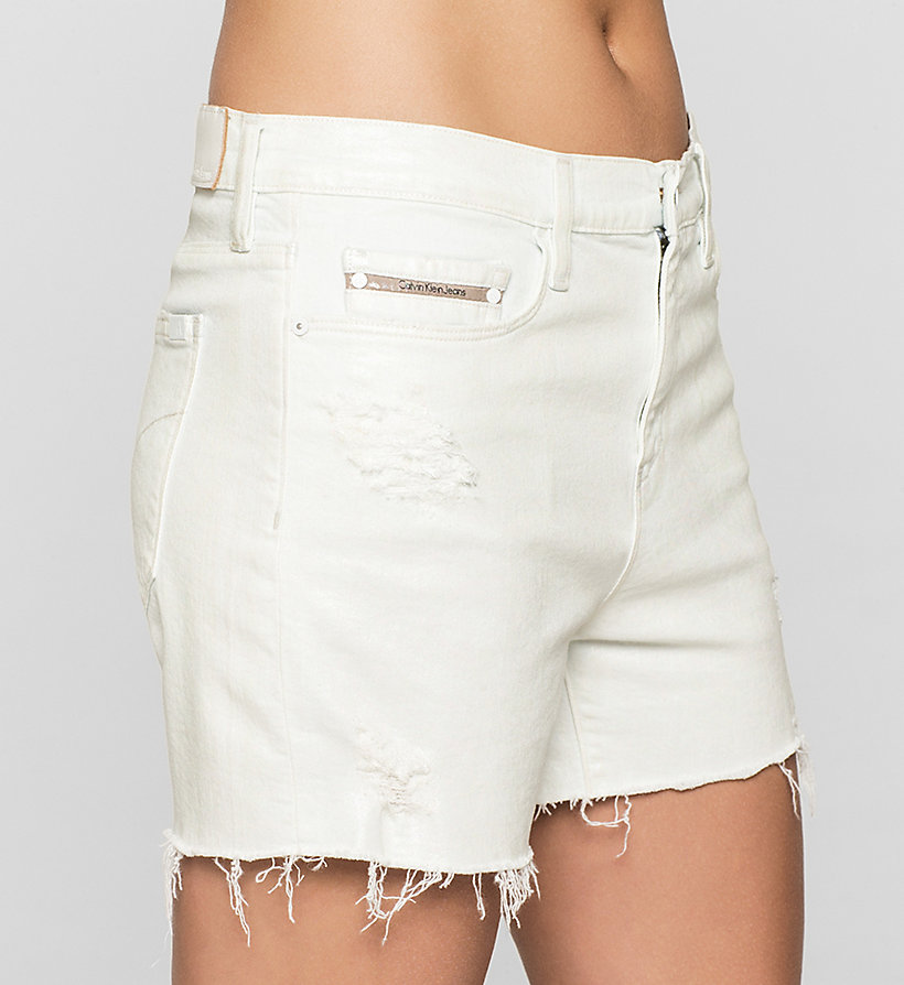 CKJEANS Cut-off Denim Shorts - IRIDESCENT LIGHT - CK JEANS SHORTS - detail image 2