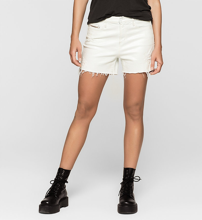 CKJEANS Cut-off Denim Shorts - IRIDESCENT LIGHT - CK JEANS SHORTS - main image