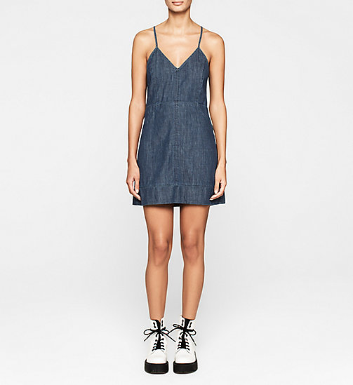 CALVINKLEIN Denim Dress - BLUE STONE - CK JEANS DRESSES - main image