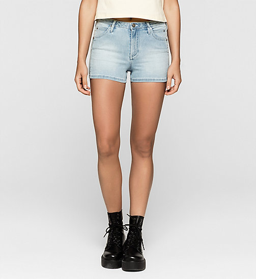 Short in denim taglio sculped - TANGO BLUE - CK JEANS SHORTS - immagine principale