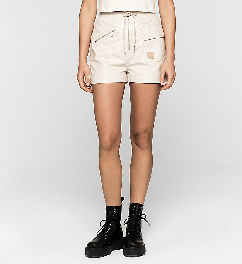 CKJEANS Leather Shorts - MOONBEAM - CK JEANS CLOTHES - main image