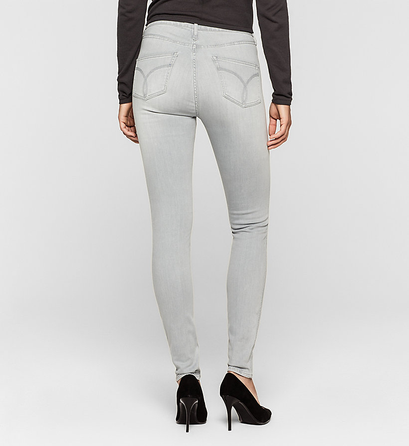 CKJEANS High Rise Sculpted Skinny Jeans - ROCKY GREY - CK JEANS JEANS - detail image 1