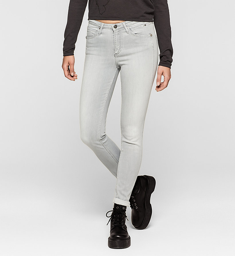 CKJEANS High Rise Sculpted Skinny Jeans - ROCKY GREY - CK JEANS JEANS - main image