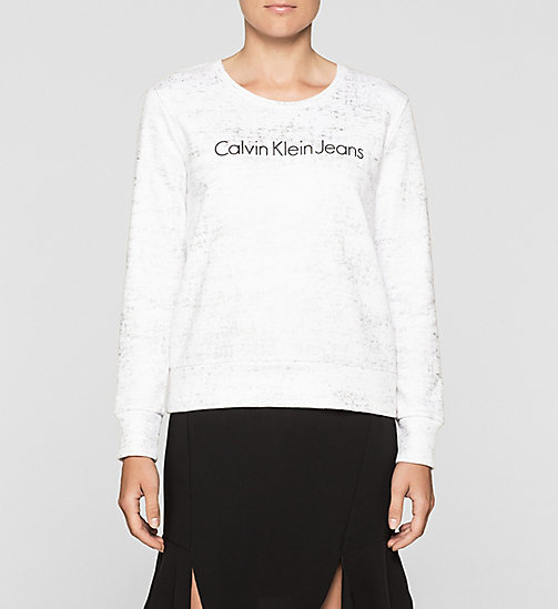 CKJEANS Metallic Logo Sweatshirt - BRIGHT WHITE - CK JEANS GIFTS FOR HER - main image