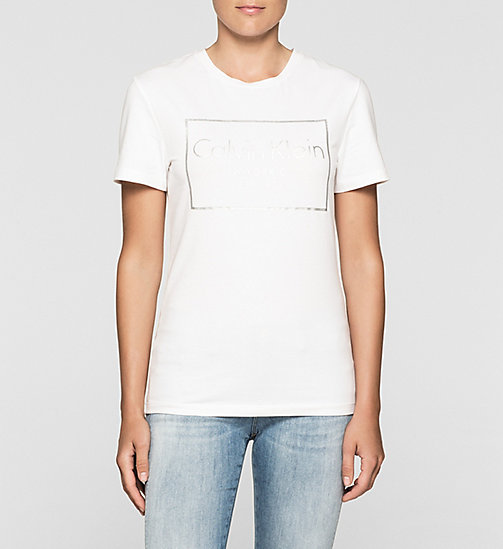 Fitted Logo T-shirt - BRIGHT WHITE - CK JEANS T-SHIRTS - main image