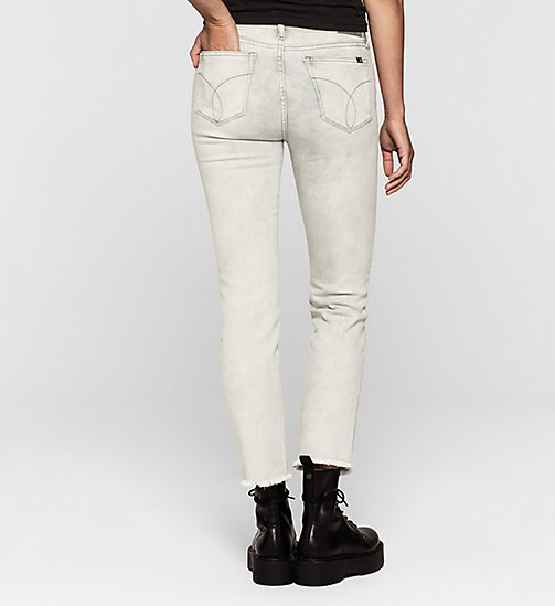 CKJEANS Mid Rise Straight Cropped Jeans - FOG GREY - CK JEANS Up to 50% - detail image 1