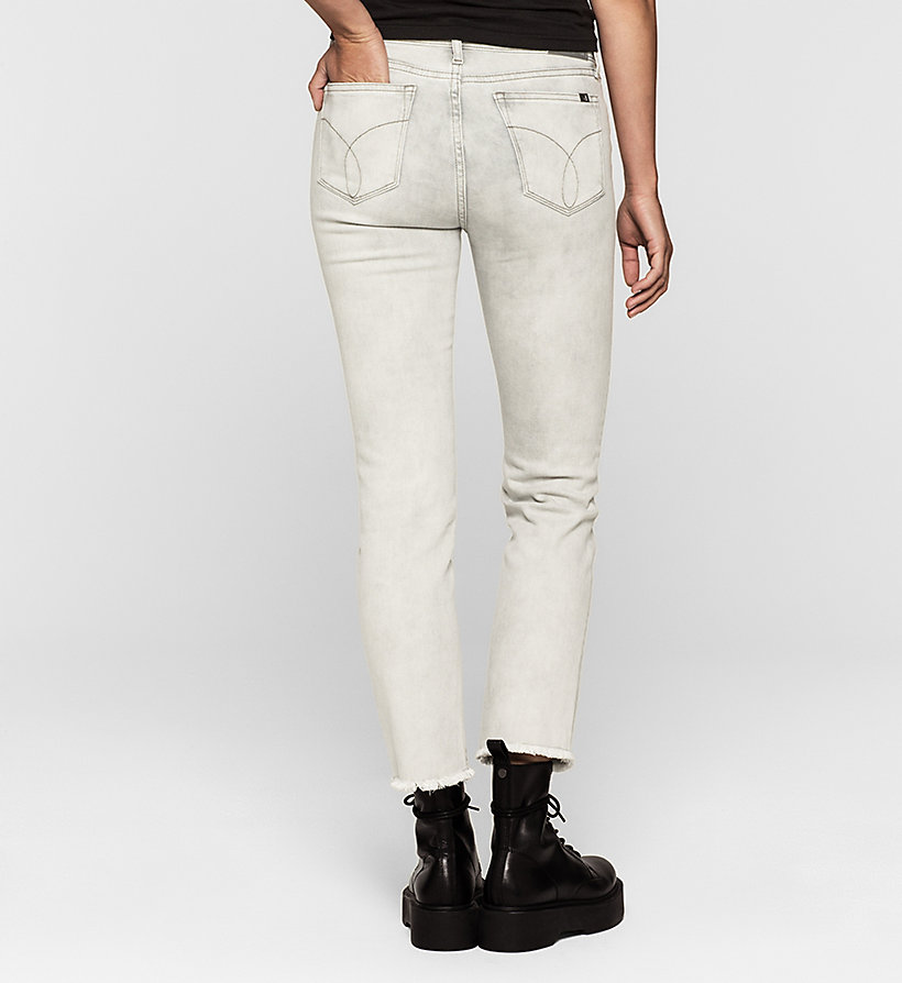 CKJEANS Mid Rise Straight Cropped Jeans - FOG GREY - CK JEANS CLOTHES - detail image 1