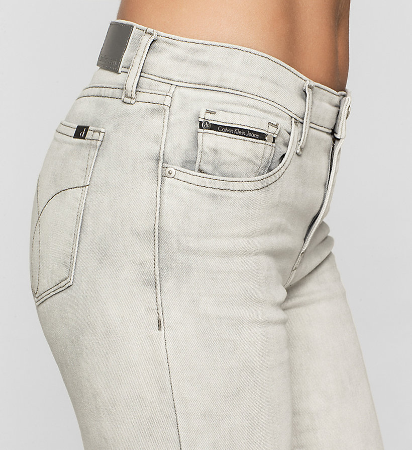 CKJEANS Mid Rise Straight Cropped Jeans - FOG GREY - CK JEANS CLOTHES - detail image 2