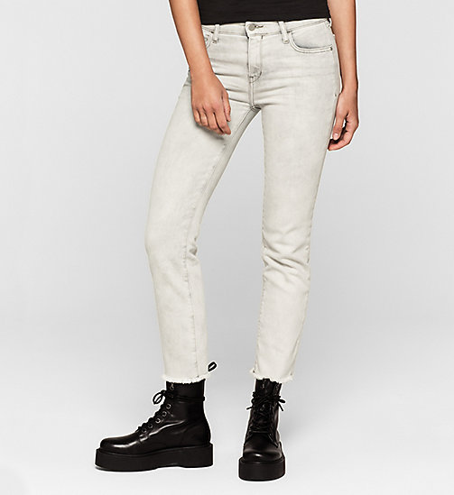 CKJEANS Mid Rise Straight Cropped Jeans - FOG GREY - CK JEANS Up to 50% - main image