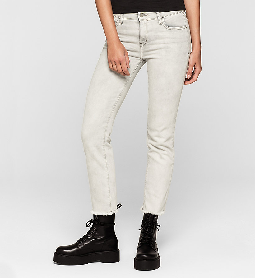 CKJEANS Mid Rise Straight Cropped Jeans - FOG GREY - CK JEANS CLOTHES - main image