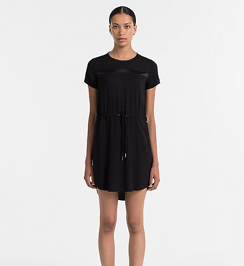 Drawstring Dress - CK BLACK - CK JEANS DRESSES - main image