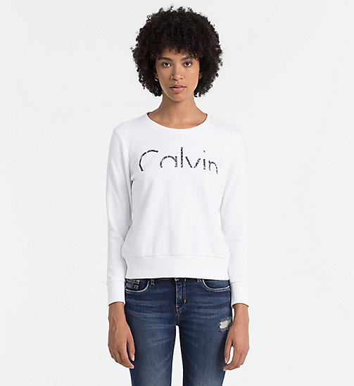 CKCOLLECTION Logo-Sweatshirt - BRIGHT WHITE - CK JEANS  - main image