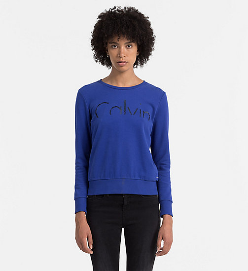 CKCOLLECTION Logo-Sweatshirt - MAZARINE BLUE - CK JEANS  - main image