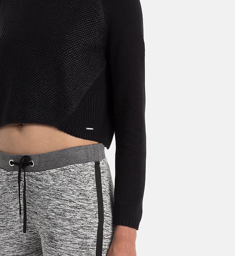 CALVIN KLEIN JEANS Coated Cotton Sweater - CK BLACK - CALVIN KLEIN JEANS JUMPERS - detail image 3