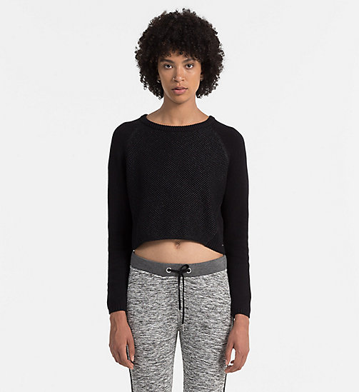 Coated Cotton Sweater - CK BLACK - CK JEANS JUMPERS - main image
