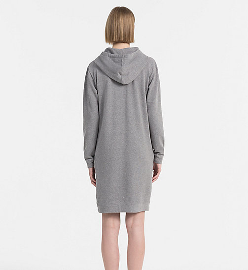 CALVIN KLEIN JEANS Hooded Sweater Dress - MID GREY HEATHER - CALVIN KLEIN JEANS ACTION-PACKED - detail image 1