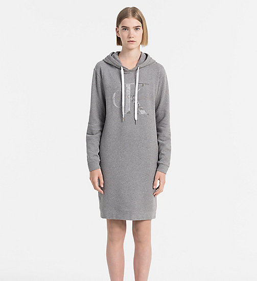 CALVIN KLEIN JEANS Hooded Sweater Dress - MID GREY HEATHER - CALVIN KLEIN JEANS ACTION-PACKED - main image
