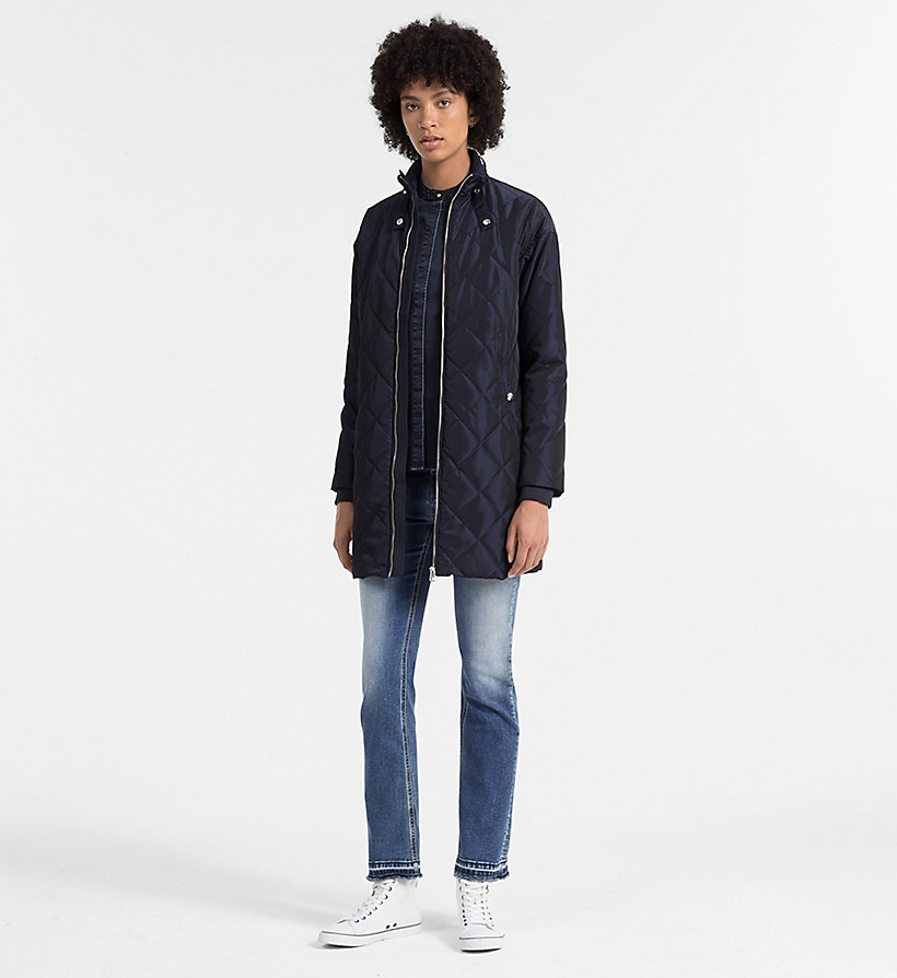 CALVIN KLEIN JEANS Quilted Coat - PATRIOT BLUE - CALVIN KLEIN JEANS OUTERWEAR - detail image 1