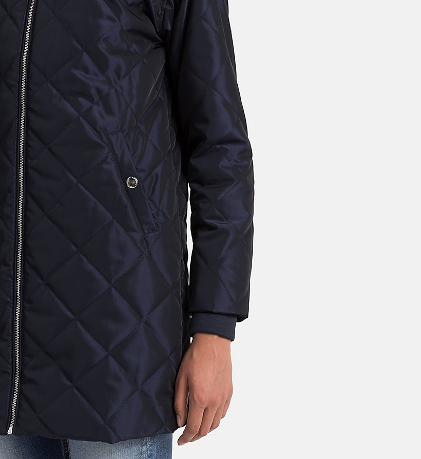 CALVIN KLEIN JEANS Quilted Coat - PATRIOT BLUE - CALVIN KLEIN JEANS OUTERWEAR - detail image 3