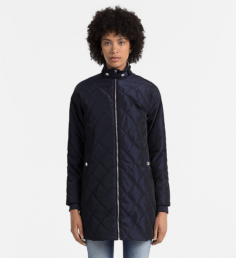 CALVIN KLEIN JEANS Quilted Coat - PATRIOT BLUE - CALVIN KLEIN JEANS OUTERWEAR - main image